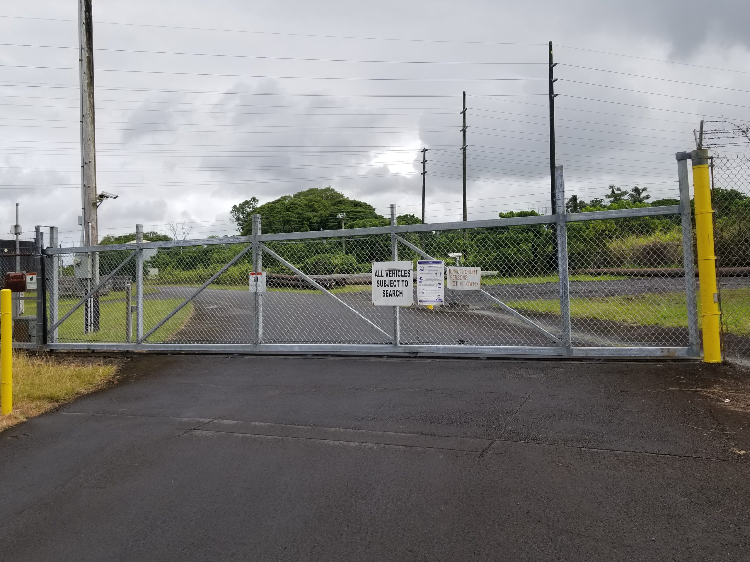 High security sliding gate system in Hawaii
