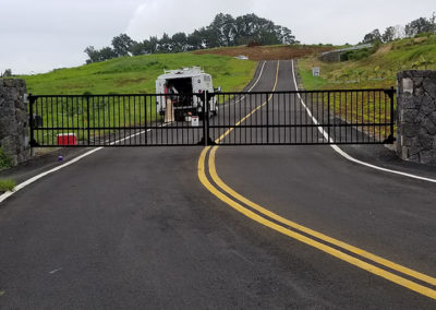 Black automated wide gate system Hawaii
